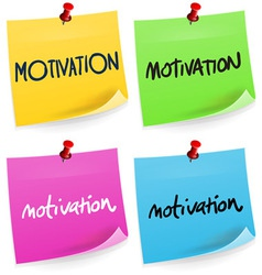 Motivation sticky note vector