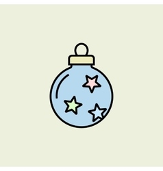 Christmas bauble icon vector