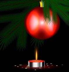 Red festive candle vector