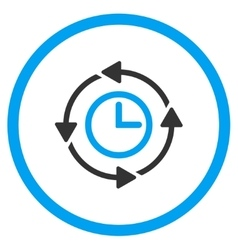 Wayback clock circled icon vector