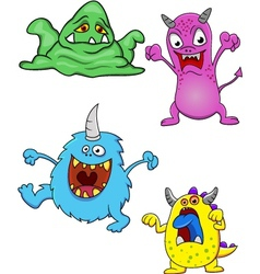 Funny monster vector