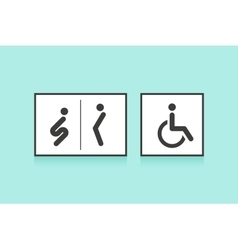 Set of icons for restroom or toilet man woman vector