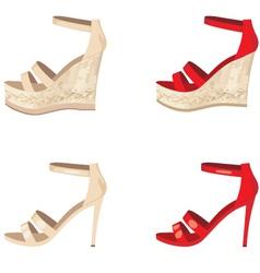 Female shoes set vector