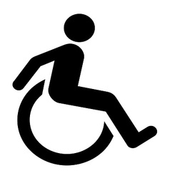 Wheel chair moving symbol vector
