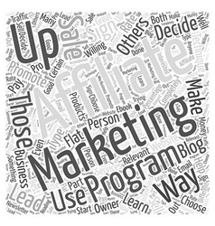 Affiliate marketing what is it word cloud concept vector