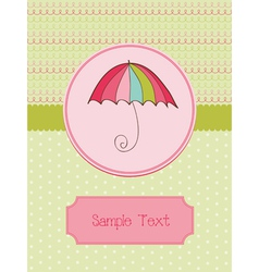 Autumn umbrella card vector