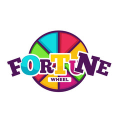 bright fortune wheel made of colorful segments vector image