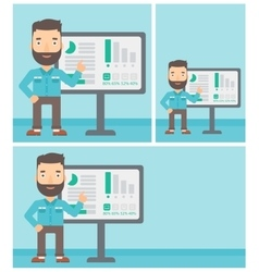 Businessman making business presentation vector image