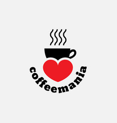 coffeemania label vector image vector image