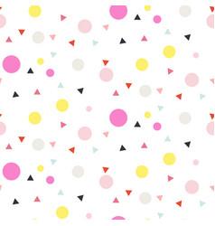 Confetti seamless white background vector