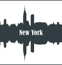 Contour of the city of new york vector
