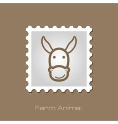 Donkey stamp animal head vector