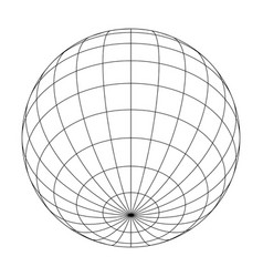 Earth planet globe grid of meridians and parallels vector