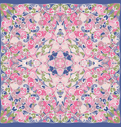 elegant square pink abstract pattern vector image