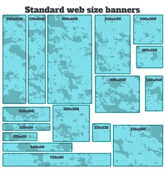 empty box standard size web banners blank set vector image