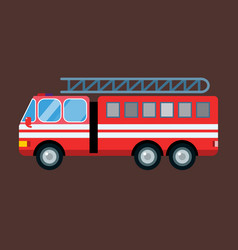Fire truck car isolated vector