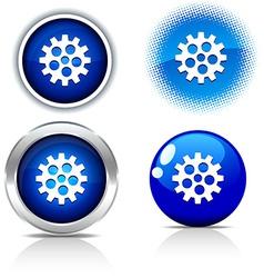 Gear buttons vector