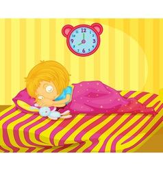Girl sleeping vector image