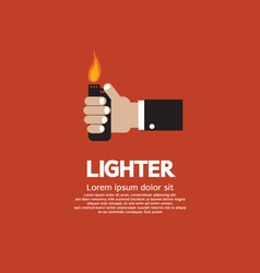 Hand Holding A Lighter vector image vector image