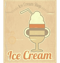 Ice Cream Dessert Card vector image vector image