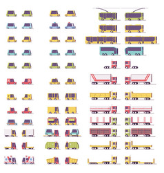 isometric low poly transport set vector image vector image