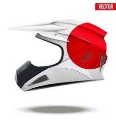 Japan flag on motorcycle helmets vector