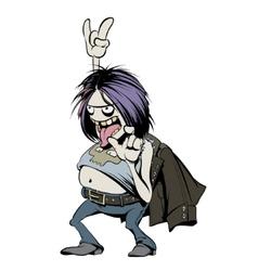Rock Music Fan Character Cartoon vector image