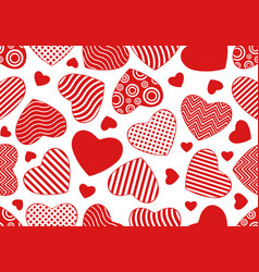 Seamless hearts background vector