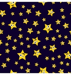 Seamless pattern ridiculous stars vector image