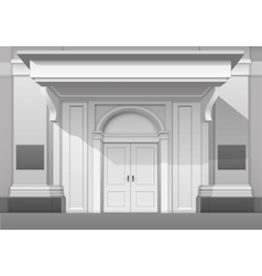 Shop museum boutique building store front isolated vector