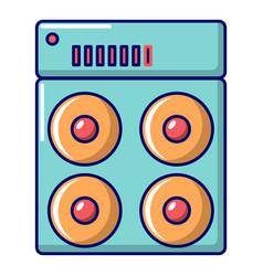 Speaker box icon cartoon style vector