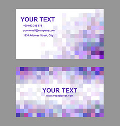 Square mosaic business card template set vector
