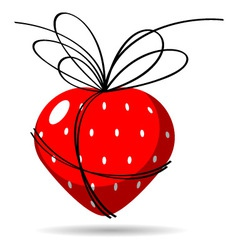 strawberry gift vector image