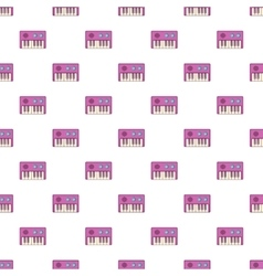Synthesizer pattern cartoon style vector