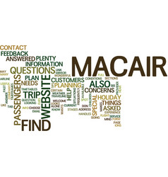 the macair website text background word cloud vector image vector image