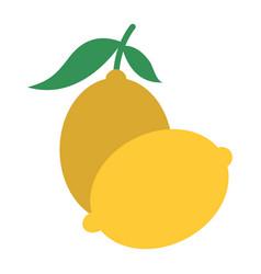two fruit citrus lemon juice icon vector image