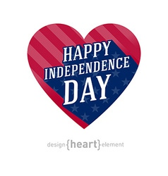 United states of america independence day heart vector