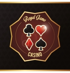 Cards casino las vegas game icon vector