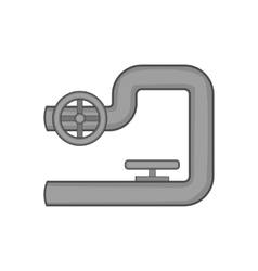 Petroleum pipeline icon black monochrome style vector