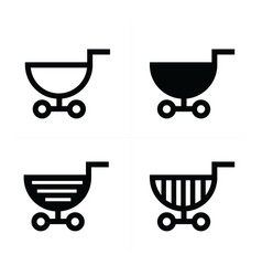 Shopping cart icons semicircle style vector