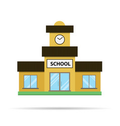 Flat school icon on white vector