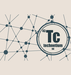 Technecium chemical element vector