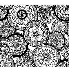 Ethnic indian pattern nature seamless pattern vector