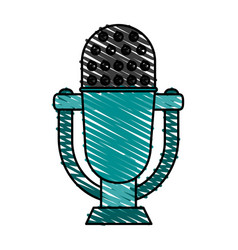 retro old microphone icon vector image