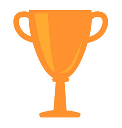 Golden cup award icon isolated vector