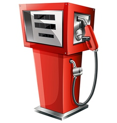 A red petrol pump vector