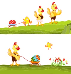Happy easter family vector
