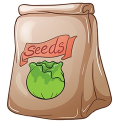 A paper pouch with seeds vector