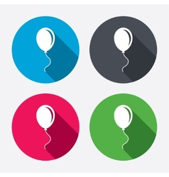 Balloon sign icon air balloon with rope vector