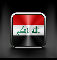 Iraq icon flag national travel icon country symbol vector